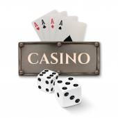 Vintage casino background. — Stock Vector
