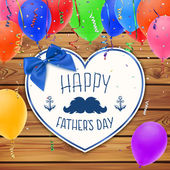 Happy Fathers Day. Background with paper heart. — Stock Vector