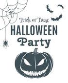 Cadılar Bayramı partisi poster şablonu. — Stok Vektör