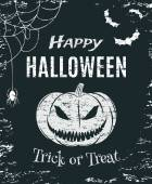 Grunge, Happy Halloween, poster template. — Stock Vector
