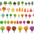 Various set of vector trees — Stock Vector #51927881