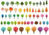 Various set of vector trees — Stock Vector