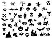 Pack di icona di Halloween — Vettoriale Stock
