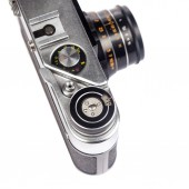 Staromódní ročník filmové kamery, samostatný — Stock fotografie