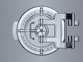 Closed Bank Vault Door — Stock Photo
