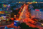 Evening Leninsky Prospekt. Kaliningrad — Stock Photo