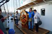 Russian tall ship Kruzenshtern ex Padua in Kaliningrad — Stock Photo