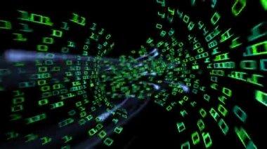 Digital data tunnel — Stock Video