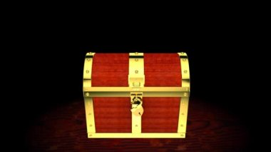 Treasure chest with light inside — Wideo stockowe