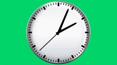 Clock on green screen — Stock Video