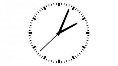 Orologio su sfondo bianco — Video Stock