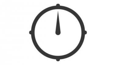 Clock with interval — Stock Video