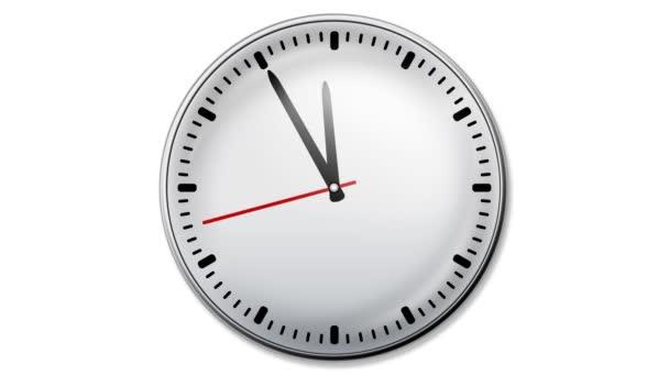 Reloj animado — Vídeo de stock