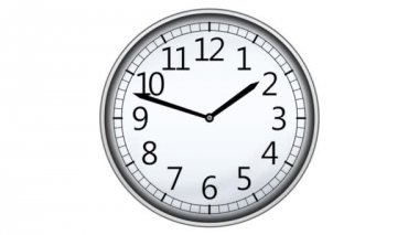 Relógio animado — Vídeo stock