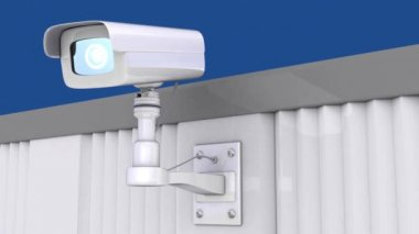 Security camera — Стоковое видео