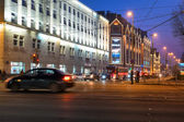 Victory (Pobedy) square. Kaliningrad — Stock Photo