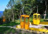Vagões de teleférico em Svetlahorsk — Fotografia Stock