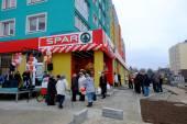 Opening SPAR supermarket. Kaliningrad — Stock fotografie