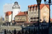 Embankment of Fishing Village in Kaliningrad — Stock Photo