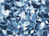 Abstract blue faceted background — Stock Photo