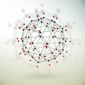 Abstract geometric polygonal structure — Stock Photo