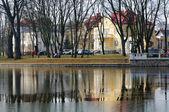 Embankment of Lake in Kaliningrad — Stock Photo