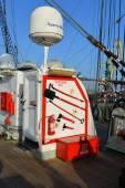 俄罗斯高船 Kruzenshtern 的渔港。加里宁格勒 — 图库照片