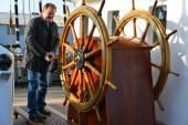 Kruzenshtern ex Padua, in the Fishing port. Kaliningrad — Stock Photo