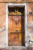 Grungy Wooden door — Stock Photo