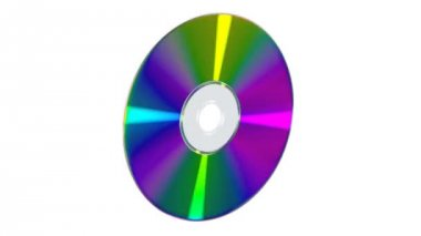 CD or DVD on white background — Stock Video