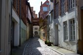 Old part of Lubeck. Germany — Stock Photo