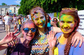 Holi Festival of Colors. Kaliningrad, Russia — Stock Photo