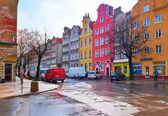 Ulicach historycznego centrum. Gdańsk — Zdjęcie stockowe