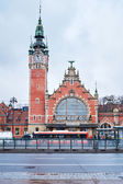 Main railroad station of Gdansk — Stock Photo