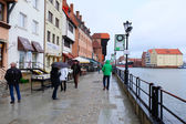 Streets of historical center. Gdansk — Stock Photo