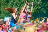 Holi Festival of Colors. Kaliningrad, Russia — Stock Photo