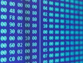 Hexadecimal program code — Stock Photo