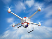 Quadrocopter with the camera — Stock Photo