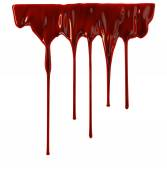 Blood dripping down — Stock Photo
