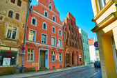 Streets of historical center. Stralsund — Stock Photo