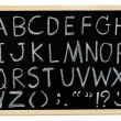 Hand drawn A to Z alphabet blackboard — Stock Photo #51964591