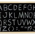 Hand drawn A to Z alphabet blackboard — Stock Photo #51964591
