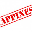 Happiness red stamp text — Stock vektor