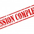 Mission complete red stamp text — Vector de stock  #52470067