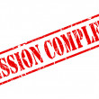 Mission complete red stamp text — Stock Vector #52470067