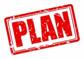 Plan red stamp text — Stockvektor