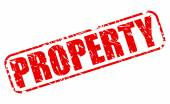 Property red stamp text — Stock Vector