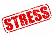 Stress red stamp text — Stock Vector