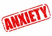 Anxiety red stamp text — Stock Vector