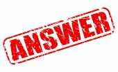 Answer red stamp text — Stock Vector